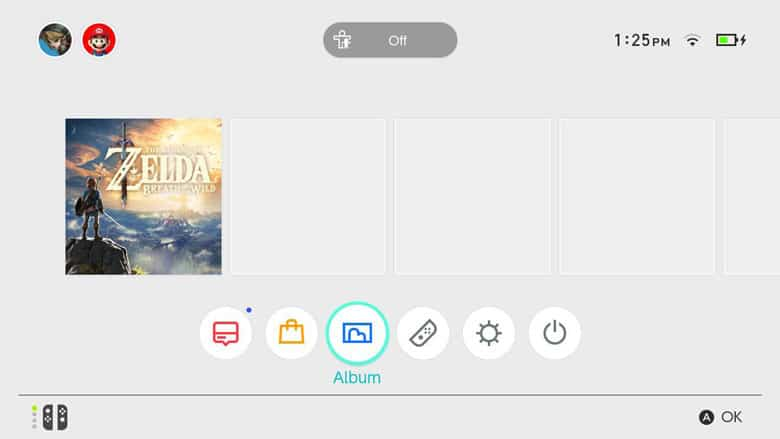 Nintendo Switch Dashboard